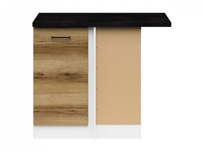 Modern Free Standing Corner Kitchen Cabinet 1000 Base Unit 100cm Right Light Delano Oak - Junona (K24-DNW/100/82_P-BI/DDJ/LMC-KPL01)
