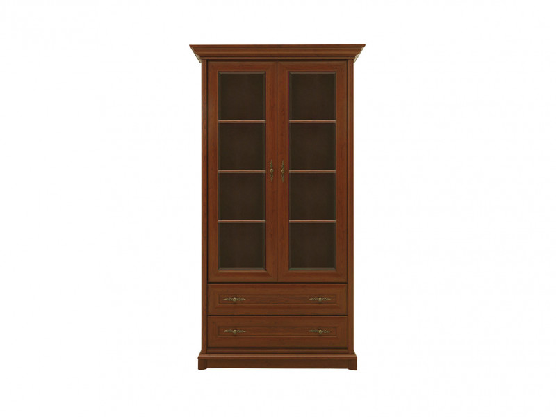 Glass Display Cabinet Classic Style Traditional Living Room Furniture Chestnut Finish - Kent (S10-EWIT2d2s-KA-KPL05)