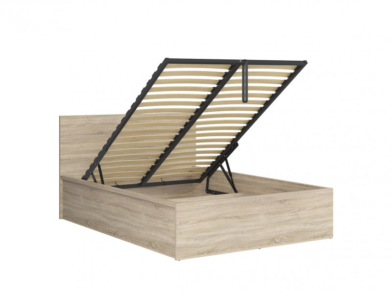 Modern Sturdy Ottoman Double Bed Frame Gas Lift Up Storage Sonoma Oak - Tetrix (S442-LOZ/140/B-DSO-KPL01)