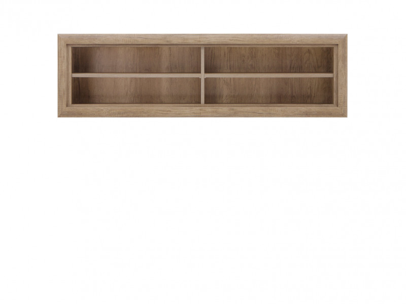 Open Wall Mounted Shelf Cabinet in Oak finish - Koen 2 (SFW/143)
