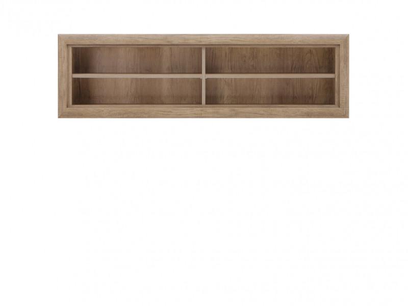Open Wall Mounted Shelf Cabinet in Oak finish - Koen 2 (SFW/143)