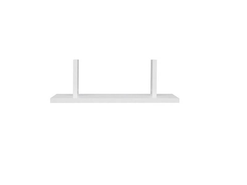 Modern White Display Shelf 50cm Mounted Under Kitchen Cabinet - Junona  (K24-POL/50-BI-KPL01)