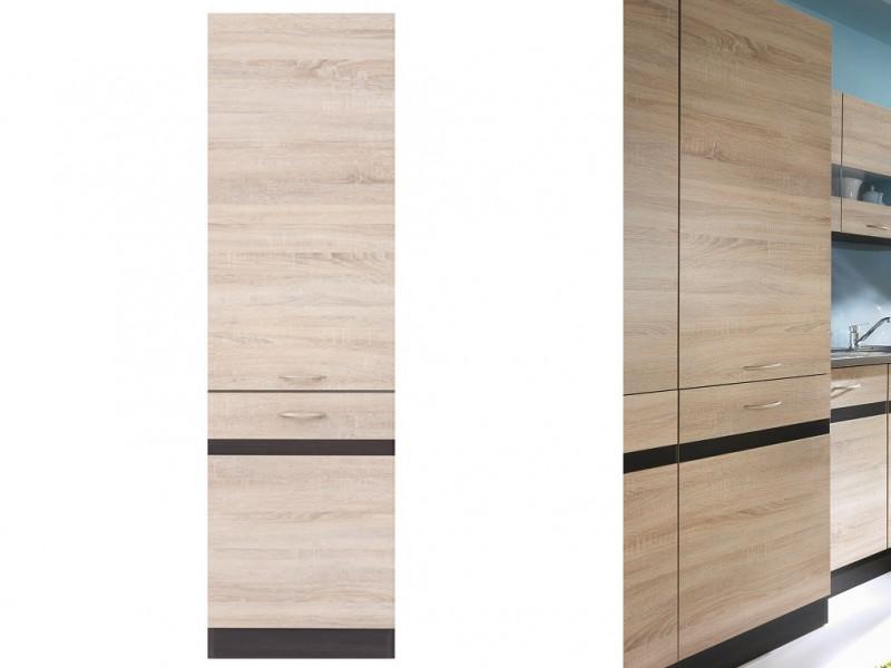 Modern Free Standing Tall Larder Kitchen Cabinet Cupboard Unit 50cm Left - Junona (K22-D2D/50/195_L-WE/DSO)