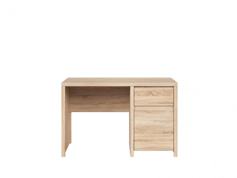 Modern Desk for Study Office Computer with Cabinet in Sonoma Oak - Kaspian (S128-BIU1D1S/120-DSO/DSO-KPL03)