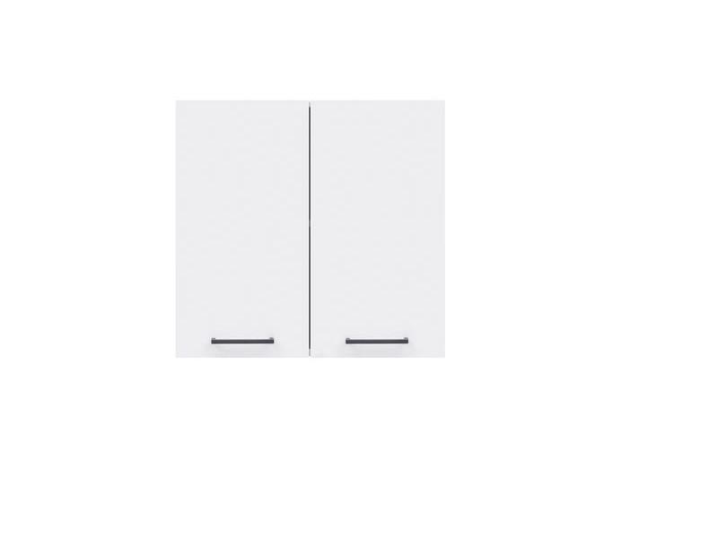 Modern Free Standing Kitchen Cabinet Cupboard Wall Unit 60cm - White/White Gloss - Junona (K24-G2D/60/57-BI/BIP-KPL01)