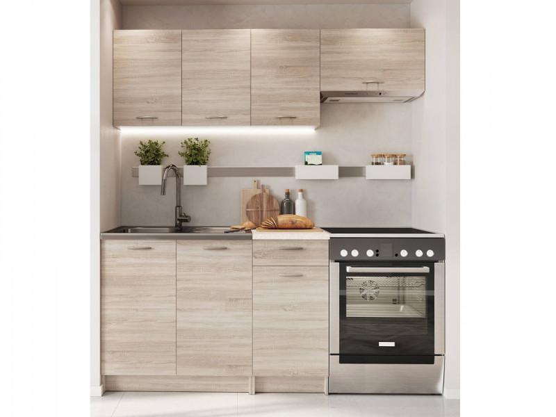 Complete Kitchen Set of 5 Cabinets Units Flat Pack in Sonoma Oak finish – Nela 1 (STO-NELA_SET-5UNITS_1.2/1.8-SON)