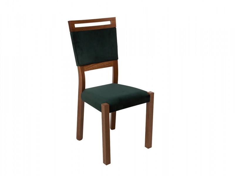 Modern Dining Chair Solid Wood Frame Velvet Soft Forest Green Fabric Seat  - Gent (D09-TXK_GENT/2-TX100-1-TK_RIVIERA_38_GREEN)