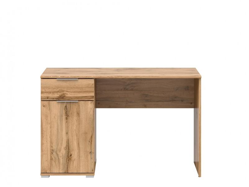 Modern Oak Effect Computer Desk with Drawer for Home Office Study 120cm - Zele (S383-BIU/120-DWO-KPL01)