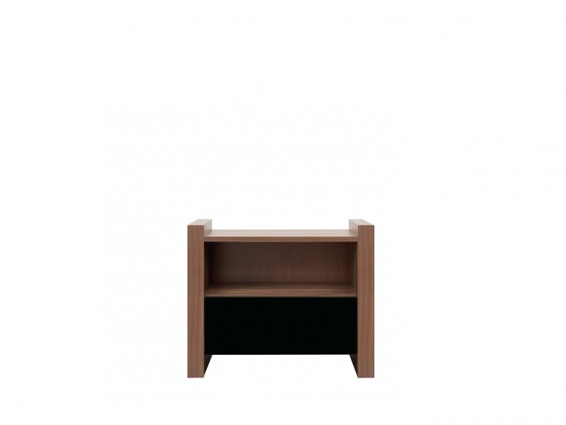 Venom - Bedside Table Black Gloss (KOM1S)
