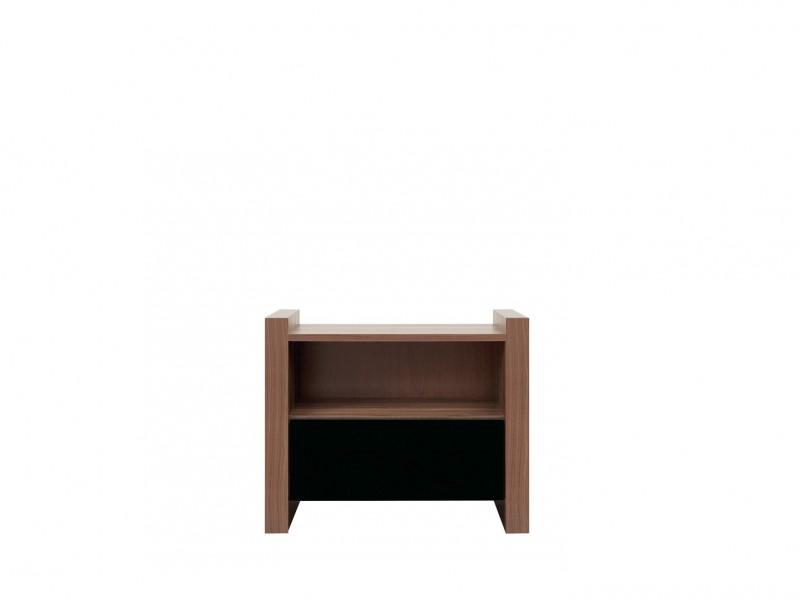 Bedside Cabinet Table Black Gloss - Venom (KOM1S)