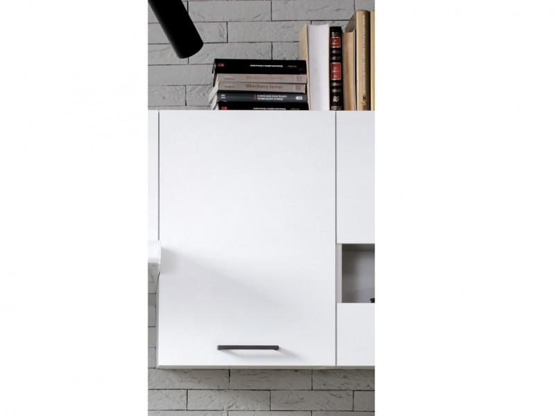 Modern Kitchen Wall Cabinet 400 Cupboard 40cm Unit White/White Gloss - Junona (K24-G1D/40/57_LP-BI/BIP-KPL01)