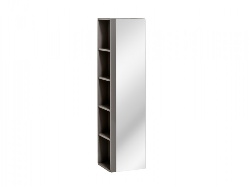 Modern Wall Mounted Tall Bathroom Cabinet Storage Unit Grey Grey Gloss Impact Furniture