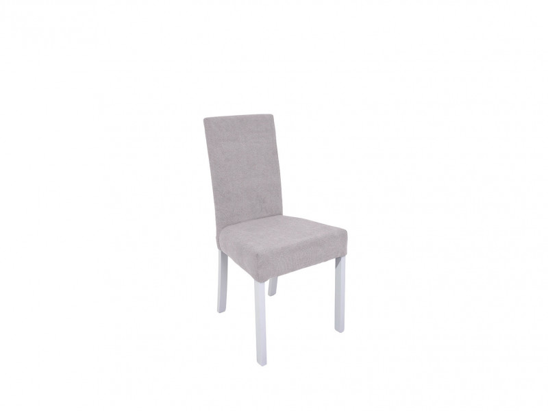 Scandinavian Wooden Upholstered Dining Room Chair White/Grey - Holten (D09-TXK_HOLTEN-TX098-1-TK_SORO_90_GREY)