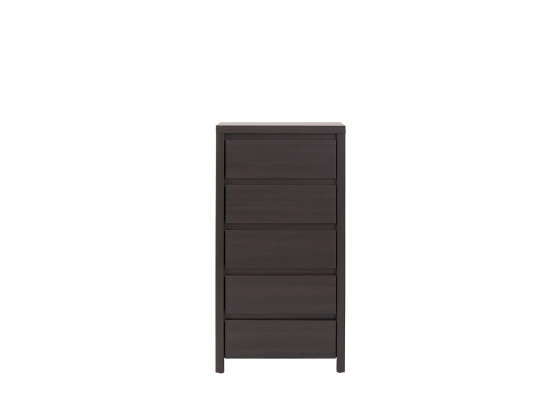 Modern Tallboy Chest of Drawers Wenge - Kaspian (S128-KOM5S-WE/WE-KPL01)