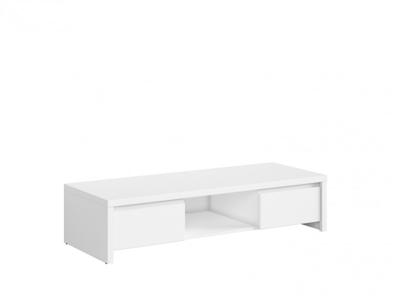 White Matt TV Unit Cabinet Stand - Kaspian (S128-RTV2S-BI/BI-KPL01)