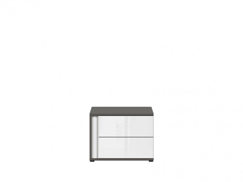 Bedside Cabinet Table Right Grey Kids Bedroom - Graphic (S343-KOM2SP/C-SZW)