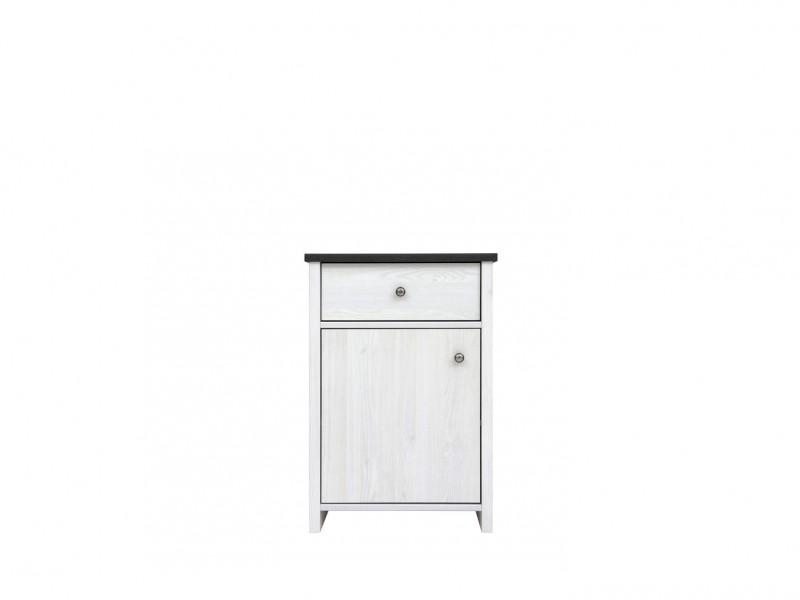 Cabinet White Wash Wood Effect - Porto (S322-KOM1D1S-DBV-KPL02)