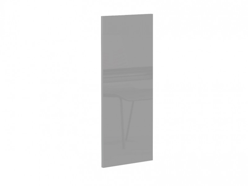 Light Dove Grey Gloss Kitchen End Wall Panel Universal for Cabinet Cupboard Wall Unit 30x72cm - Luna (STO-LUNA-WALL_END_PANEL-SZP-KP01)