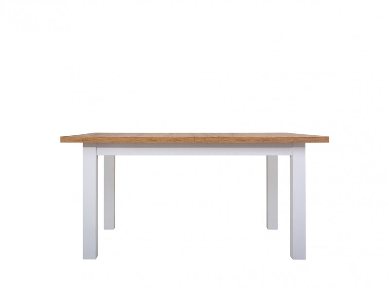 Scandinavian Dining Room Extending Dining Table 160-200cm White/Oak finish - Holten (D09027-TXS_STO_HOLTEN)