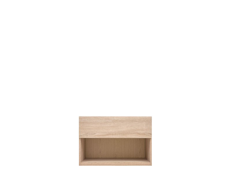Modern Bedside Cabinet 1-Drawer Storage Unit in Sonoma Oak Finish - Academica (S324-KOM1S/66-DSO)