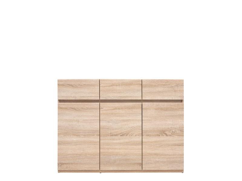 Modern Sideboard Dresser Storage Unit Cabinet in Sonoma Oak Finish - Academica (S324-KOM3D3S-DSO-KPL01)