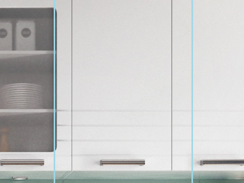 White/Light Grey Kitchen Wall Cabinet with Door 40cm Cupboard Unit - Paula (STO-PAULA-W40-P/L-GR/WHITE-KP01)