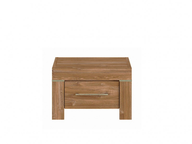 Bedside Cabinet 1 Drawer Side Table Oak finish - Gent (S228-KOM1S-DAST-KPL01)