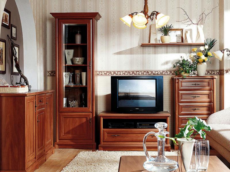 Living Room Furniture Set Classic Style Traditional Chestnut Finish - Kent (KENT LIV SET)