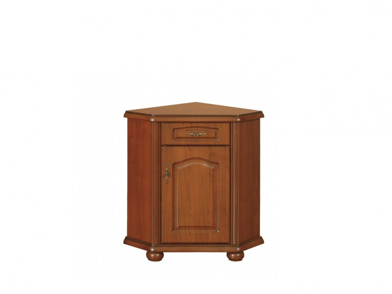 Corner Sideboard Dresser Cabinet Right Classic Style Traditional Living Room Furniture Cherry Finish - Natalia (KOMN60P)