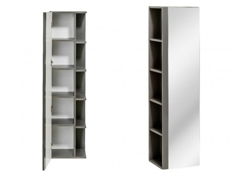 Tall Bathroom Cabinet Storage Unit Grey, Tall Bathroom Shelving Units