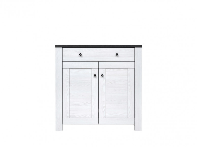 2 Door cabinet with Drawer - Antwerpen (KOM2D1S)