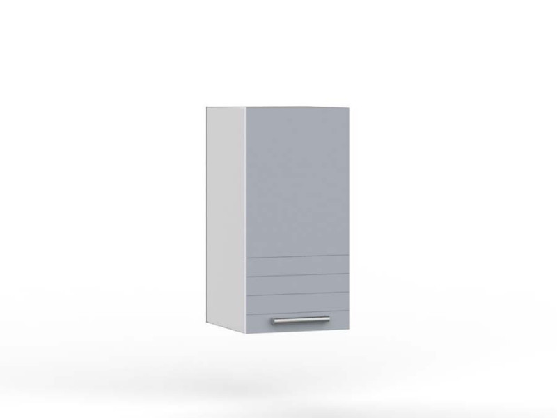 Light Grey Kitchen Wall Cabinet 400 Unit 40cm 1 Door Wall Hung Cupboard Matt Finish - Paula (STO-PAULA-W40-P/L-GR/DOVE-KP01)