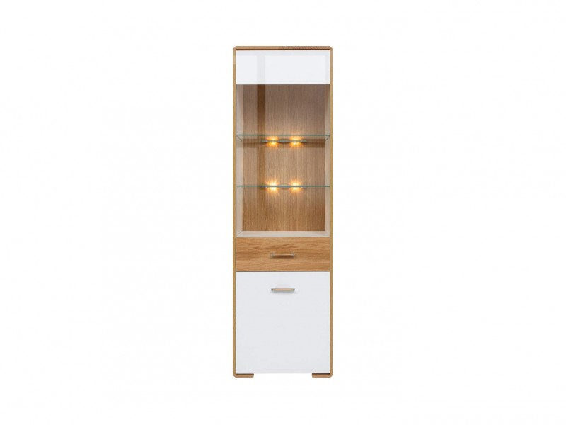 Glass Display Cabinet - Bari (S332-REG1W1DP-BI/DNA/BIP-KPL01)
