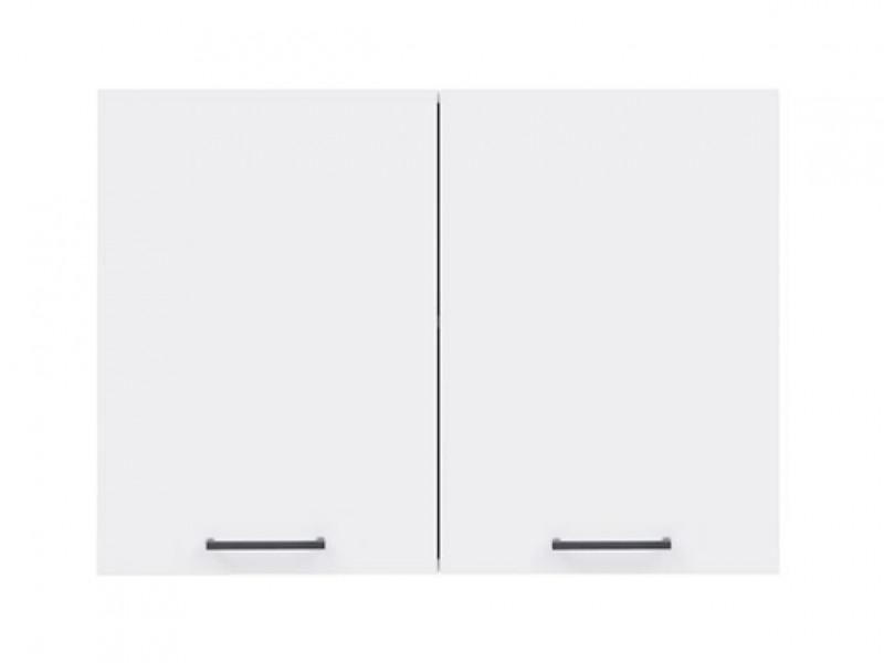 Modern Kitchen Wall Cabinet 800 Cupboard 80cm 2-Door Unit White/White Gloss - Junona (K24-G2D/80/57-BI/BIP-KPL01)