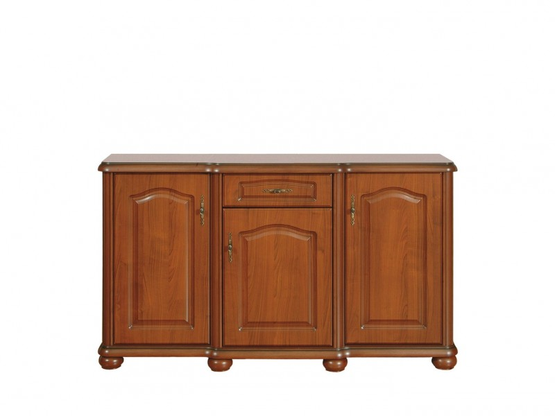Wide Sideboard Dresser Cabinet Classic Style Traditional Living Room Furniture Cherry Finish - Natalia (S41-KOM150-WIP-KPL04)