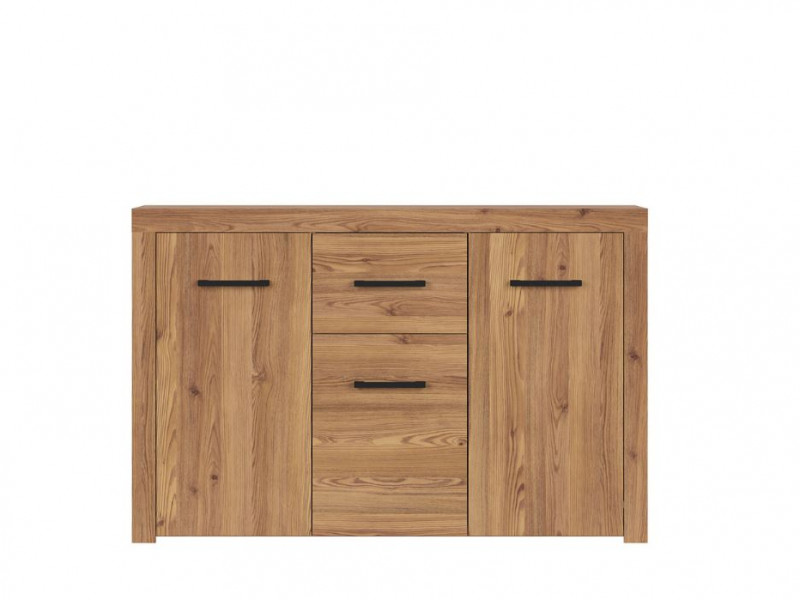 Modern Large Sideboard Cabinet 3 Doors 1 Drawer Unit in Oak Finish - Vasto (S429-KOM3D1S-MSZ)