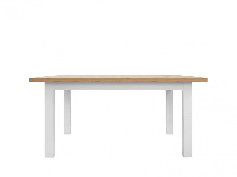 Modern Extending Sturdy Dining Table White Matt / Oak finish - Erla (S426-STO-BI/DMV-KPL01)