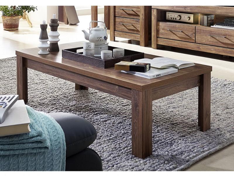 Modern Living Room Low Rectangular Sturdy Coffee Table 130cm Medium Oak Effect - Gent (S225-LAW/4/13-DAST-KPL01)