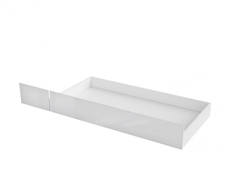 Scandinavian Underbed Storage Drawer on Wheels White Mat/White Gloss - Holten (S440-SZU-BI/BIP-KPL01)
