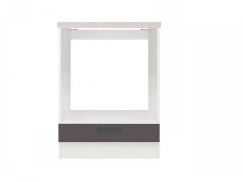 Modern Free Standing Kitchen Cabinet 600 Oven Housing Unit 60cm Wolfram Grey - Junona (K24-DPK/60/82-BI/SZW/BNG-KPL01)