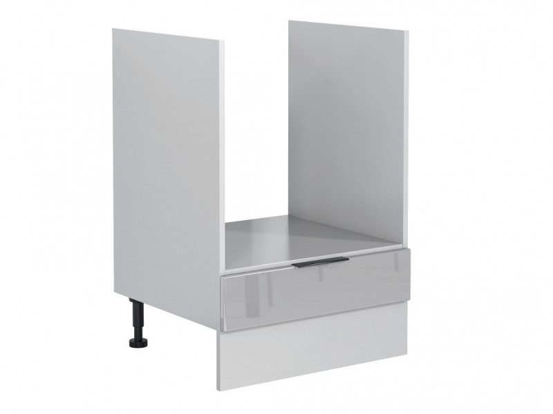Light Dove Grey Gloss Kitchen Cabinet 60cm Oven Housing Free Standing 600 Unit - Luna (STO-LUNA-DK60-SZ-SZP-KP01)
