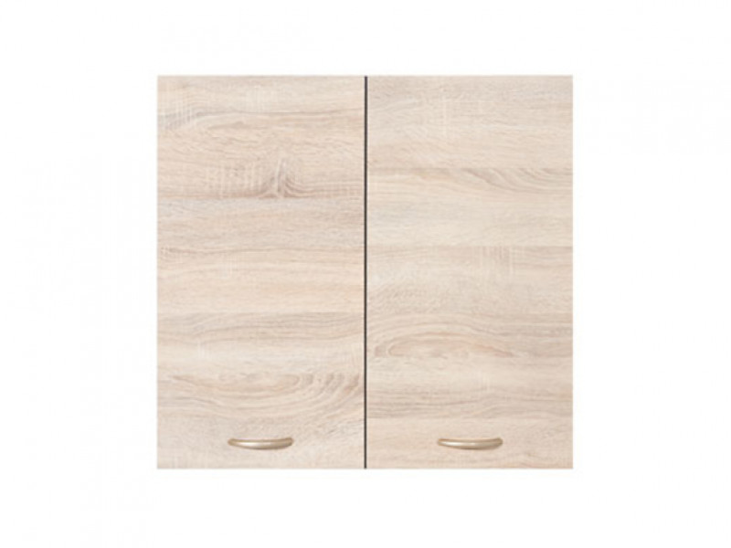 Modern Kitchen Wall Cabinet 600 Cupboard 60cm 2-Door Unit Wenge/Sonoma Oak - Junona (K22-G2D/60/57-WE/DSO-KPL01)