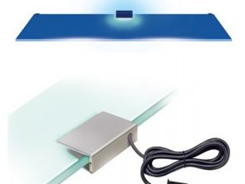 LED Lighting for Modern Large Glass Fronted 2 Door Display Cabinet Unit in White Gloss/Oak - Zele (REG1W3D_OPCJA-BI4K)