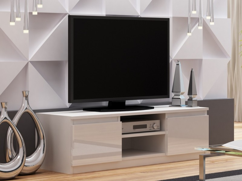 Top E Gloss  - TV Cabinet Unit White High Gloss (RTV120WhiteGloss)