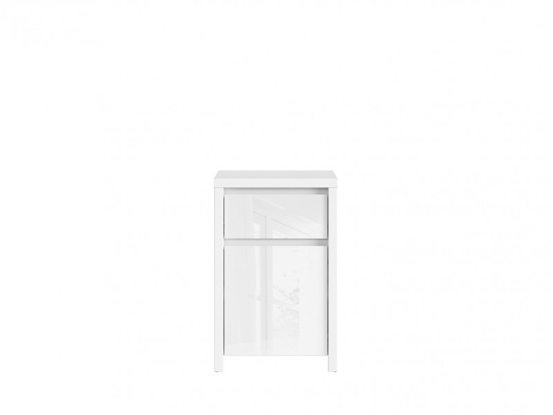 Small Cabinet Side Unit White Gloss - Kaspian W (KOM1D1SP)