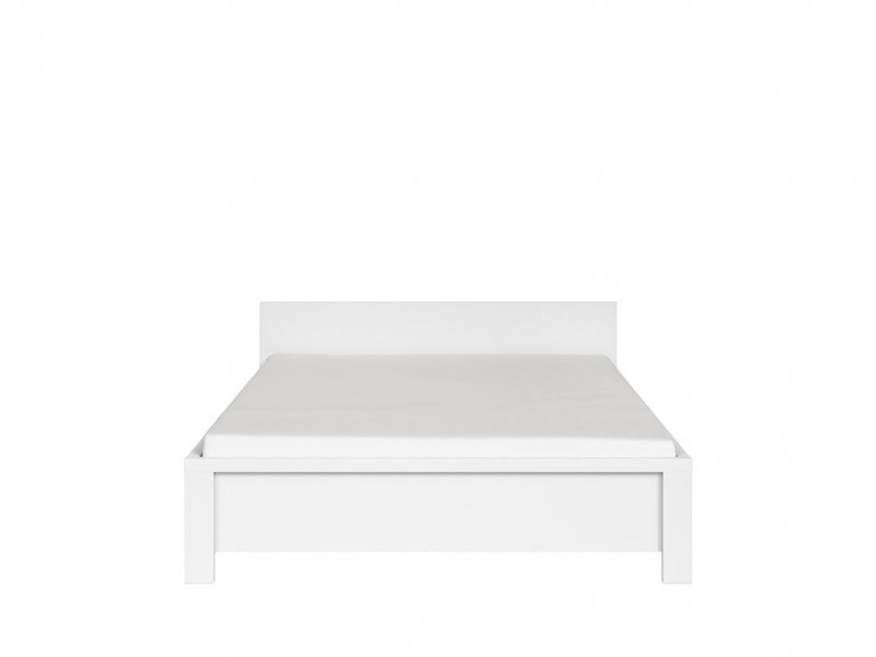 White Double Bed Frame - Kaspian W (LOZ140)