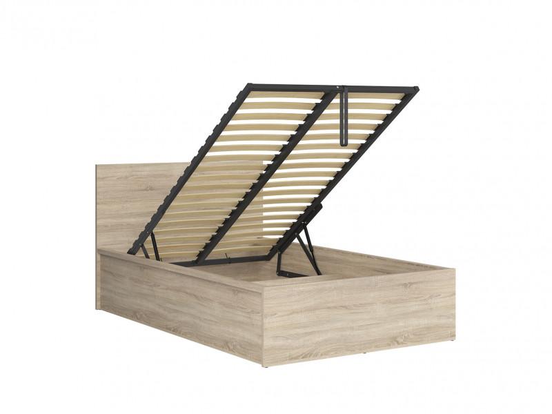 Modern Sturdy Ottoman Small Double Bed Frame Gas Lift Up Storage Sonoma Oak - Tetrix (S442-LOZ/120/B-DSO-KPL02)