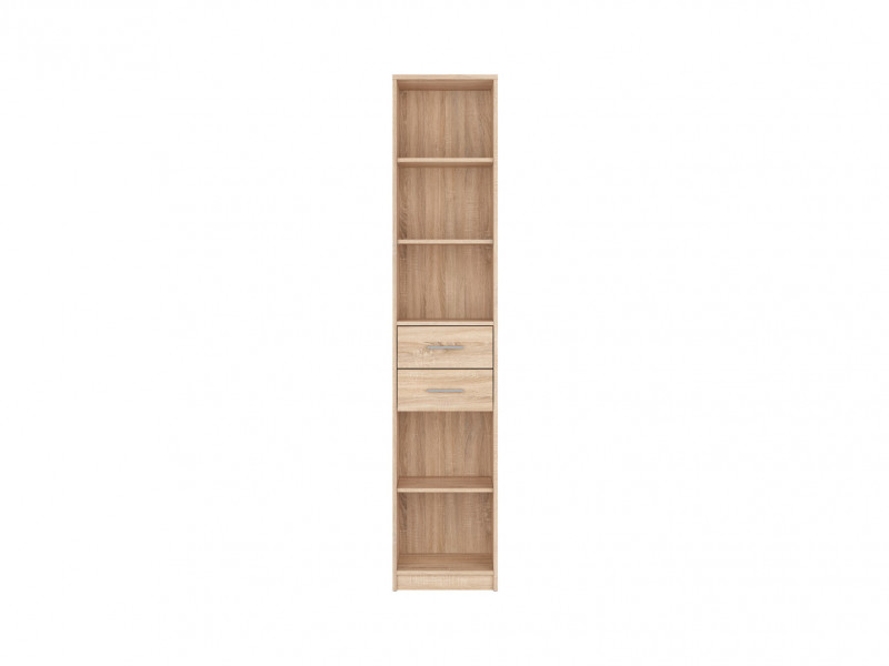 Bookcase Shelf Cabinet With Drawers - Nepo (REG2S/40)