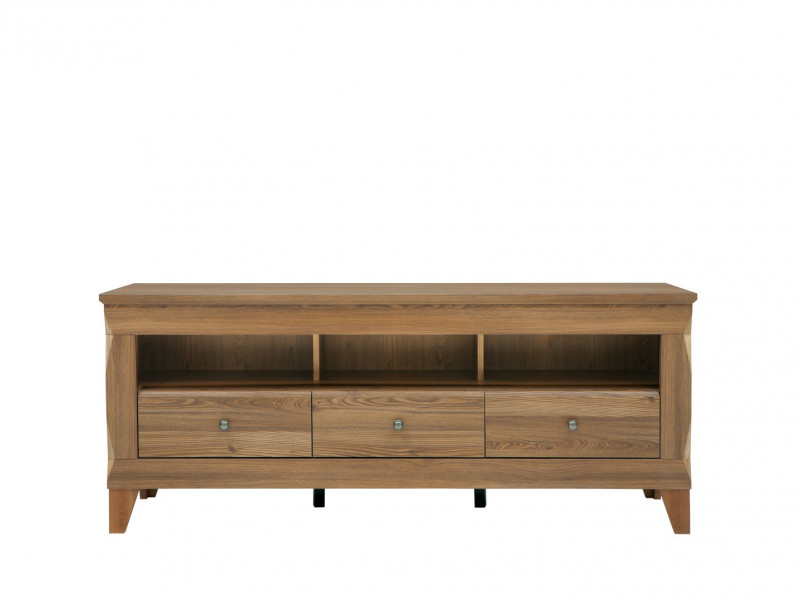 Traditional Light Oak Wide TV Cabinet Media Bench 156cm Storage Unit with Drawers - Bergen (S359-RTV3S-MSZ-KPL01)