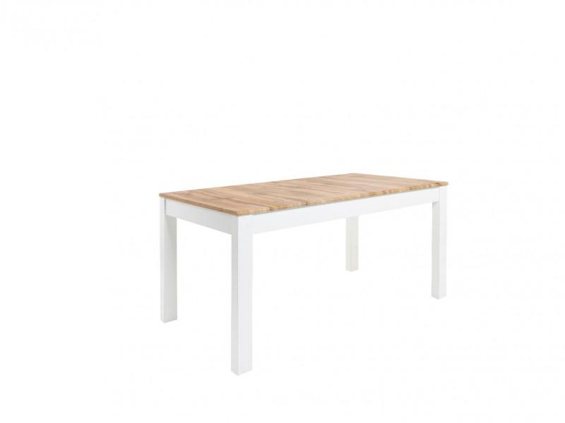 Scandinavian Slim Dining Room Extending Table 160-200cm White/Oak finish - Holten (D09051-STO_HOLTEN/2-DWO/BAL-KPL01)
